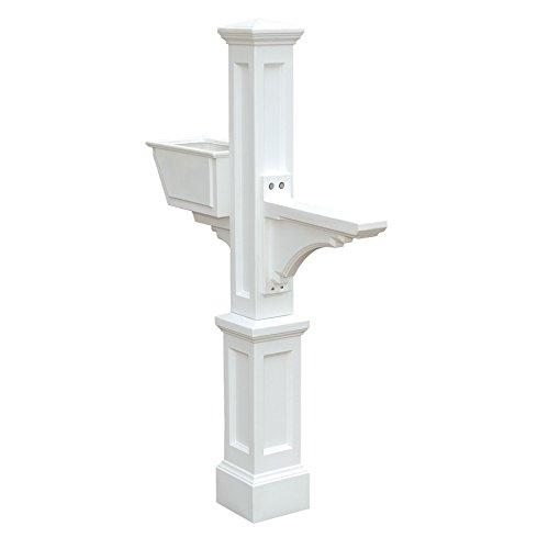 Mayne White Polymer Mailbox Post Item#157720 Model#VA85753 UPC# 673995857531