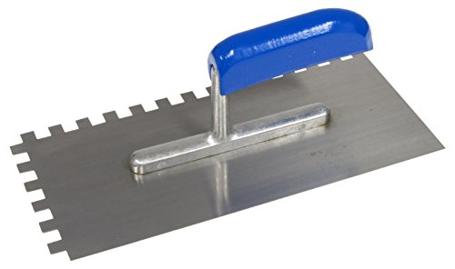 CON:P Zahnglättekelle 280 x 130 / 8 x 8 mm Metall, CP781246