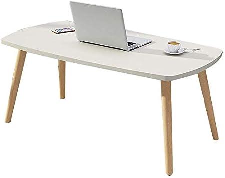 Escritorio para el hogar, mesa de centro de madera ovalada Montaje ...