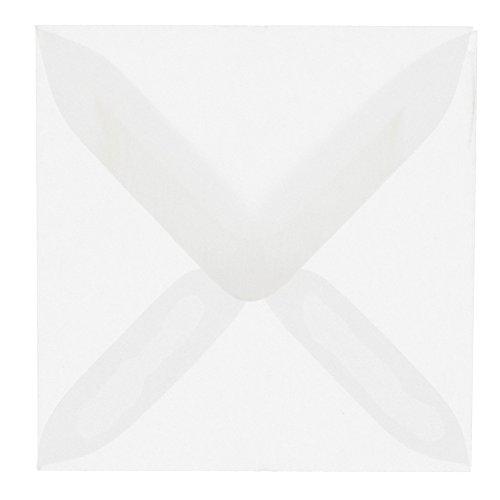 JAM PAPER 3 1/8 x 3 1/8 Square Translucent Vellum Invitation Envelopes - Clear - 25/Pack ()