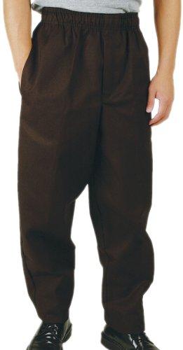 Phoenix Black Elastic Waist Chef's Pants, XX-Large