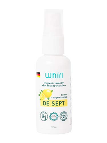 DE SEPT Safe Alcohol-Free Hand sanitizer Lemon Flavour 1.7 fl oz Spray
