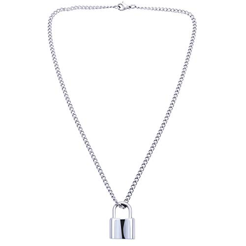 Lock Pendant Y Necklace Simple Cute Necklaces Long Multilayer Chain Fashion Jewelry Women Girls Gift for Her