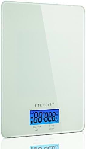 Etekcity 13lb/6kg Digital Kitchen Food Scale, Tempered Glass Design, Volume Measurement Supported (Certified Refurbished)