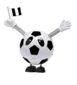 Junior star Gadget Pallone Calcio Che Cammina Forza Juve, Bianconero, Medium Junior Star Srl 30000651
