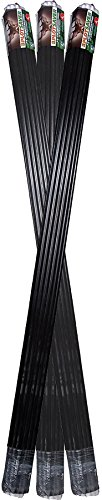 (Messina Wildlife STB-039 39-Inch by 3/8-Inch Deer Repellent Black Fiberglass Stakes, 30)