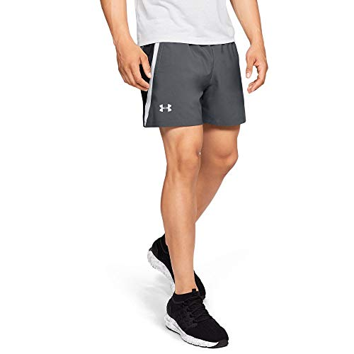 Under Armour Launch SW 5'' Shorts, Pitch Gray//Reflective, Small