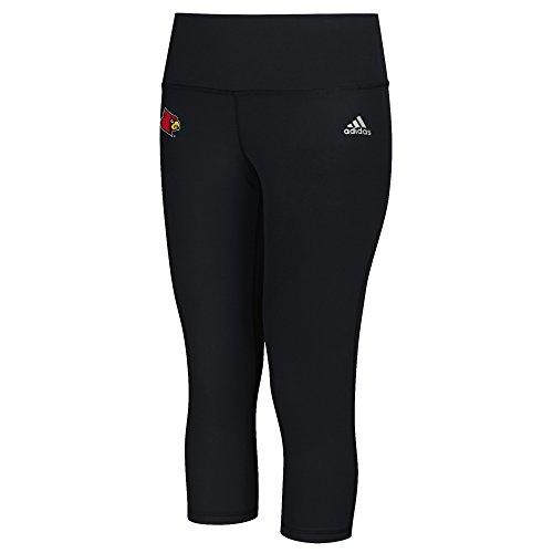 NCAA Louisville Cardinals Logo Performer Climalite Mid Rise 3/4 Tight Pants, Medium, Black