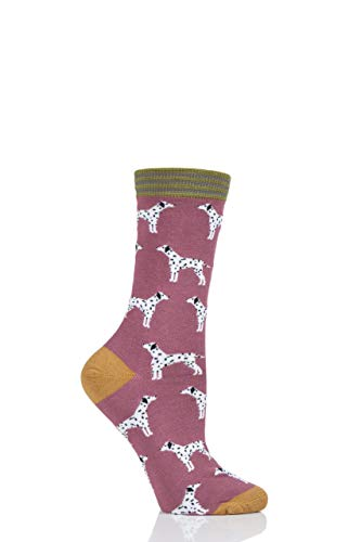 Thought Womens Dalmatian Bamboo and Organic Cotton Socks Pack of 1 Rose Pink 6-9