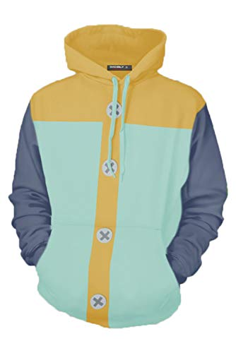 Obtai Grizzly's Sin of Sloth Fairy King Harlequin King Hoodies Cosplay Costume Sweatshirt Jacket Unisex (4X-Large, Pullover) ()