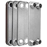 "60-plate Brazed Plate Heat Exchanger, 1"" MNPT ports"