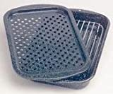 Columbian Home Products 3Pc Broiler Pan/Rack 0513-2 Cookware Ceramic On Steel Open Stock