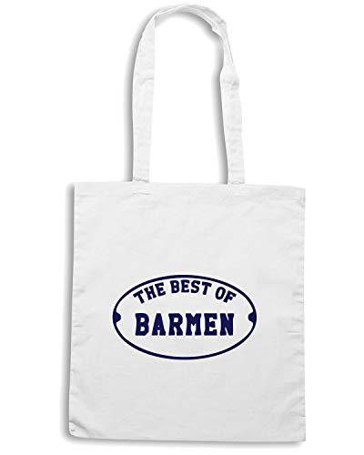 Speed Bianca Shirt BEER0287 Borsa THE BEST BARMEN OF Shopper rwrqPH6