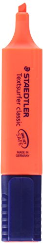 Staedtler Mars Highlighter, Broad Chisel Tip, Fluorescent Red (STD3642)