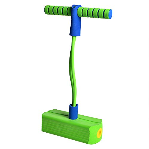 (TORPSPORTS Foam Pogo Jumper- Make Squeaky Sounds, Safe and Fun Pogo Stick for All, 250 Pound Capacity (Green))