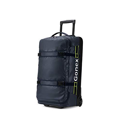 Gonex Reisetasche mit Rollen 70L Rollkoffer Reisekoffer groß Koffer Trolley Handgepäck L 66x40x23cm, Dunkelblau