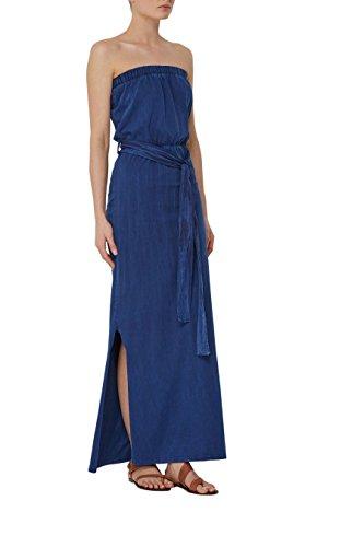 next Mujer Vestido Largo Estampado Cinturón Regular Ropa Azul