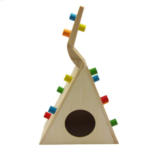 Alfie Pet by Petoga Couture - Small Animal Playground - Jami Wooden Climbing Hideout Toy for Small Animals like Dwarf Hamster and Mouse by Alfie (Image #4)