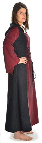 Damen zum schwarz weiß Dunkelrot Mittelalter rot grün HEMAD mit blau braun XL Kleid Schnüren S Gugel BdTnTqR