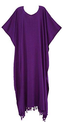 Beautybatik Purple Caftan Kaftan Loungewear Maxi Long Dress 3X