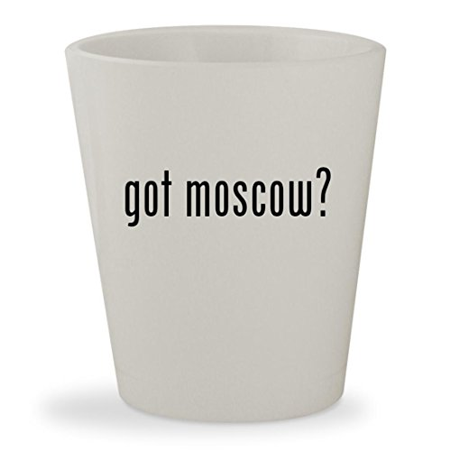 got moscow? - White Ceramic 1.5oz Shot (Party City St Petersburg)