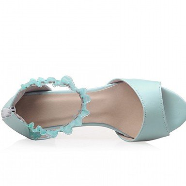 LvYuan Mujer Sandalias Semicuero PU Verano Otoño Paseo Hebilla Tacón Robusto Beige Azul Rosa 2'5 - 4'5 cms blushing pink