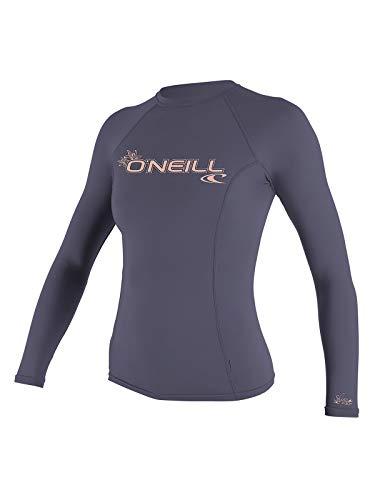 O'Neill Wetsuits Women's Basic 50+ Long Sleeve Rash Guard, Dusk, X-Small ()