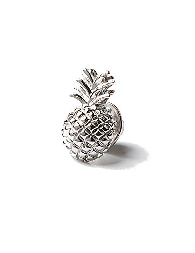 Men's Hipster Premium Tropical Pineapple Metal Lapel Pin (Silver) ()