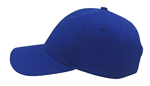 (Always Eleven Cotton Baseball Hat with Satin Lining (Blue))