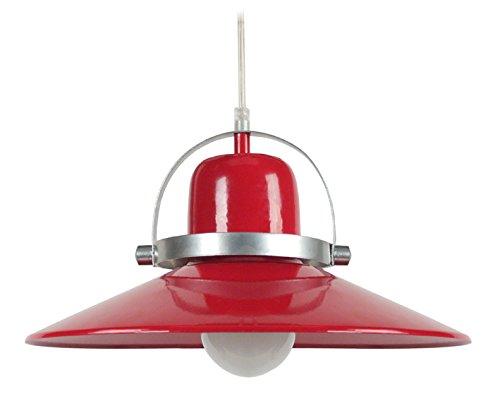 Tosel Daniel 12589 Lámpara de techo, acero, 100 W, E27, rojo ...