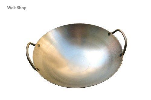 Carbon Steel Round Bottom Wok w/ 2 Loop Handles, USA Made (18 - Wok Aluminum