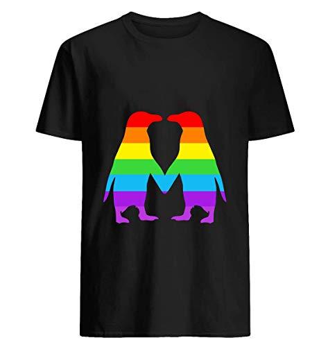Rainbow penguins in love- 62 Tshirt Hoodie for Men Women Unisex