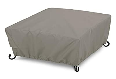 "AmazonBasics Patio Square Fire Pit Cover, 36"", Grey"