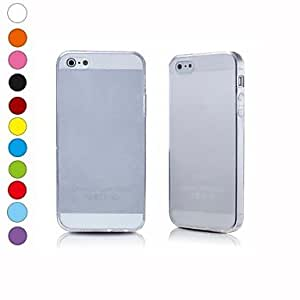 ZXC 2 x 0.5mm Ultra-Thin Slim Hard TPU Case Cover Shell for Apple iPhone 5 5G Phone(Assorted Colors) , White