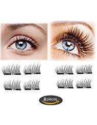 e5c8432e7a3 Magnet Eyelashes-Dual Magnetic False Eyelashes Cover Half Eyes with Reusable  No Glue (2