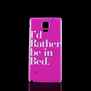 YULIN Phrase Pattern Hard Case for Samsung Galaxy Note 4