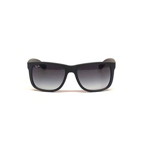 16899caaa1 Ray Ban RB4165 601 8G 51mm Rubber Black Justin Sunglasses Bundle - 2 Items  on