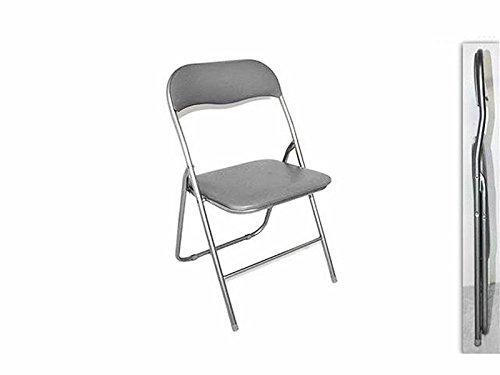 Due esse sedia pieghevole imbottita struttura in metallo per casa
