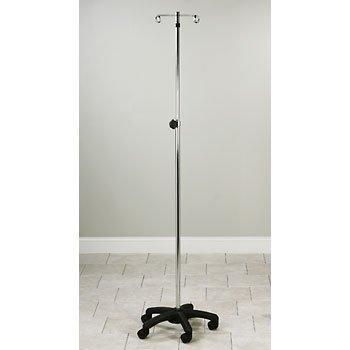 CLINTON CHROME INFUSION PUMP STANDS Five-leg, space-saver w/2 hooks Item# IV-52 - Hook 5 Leg Infusion Pump