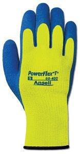(Ansell - PowerFlex - Yellow Gloves - Size: 9)