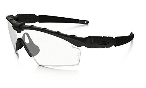 Oakley Industrial M Frame 2.0 Sunglasses Matte BLK / Clear & Cleaning Kit Bundle (Industrial M Frame)