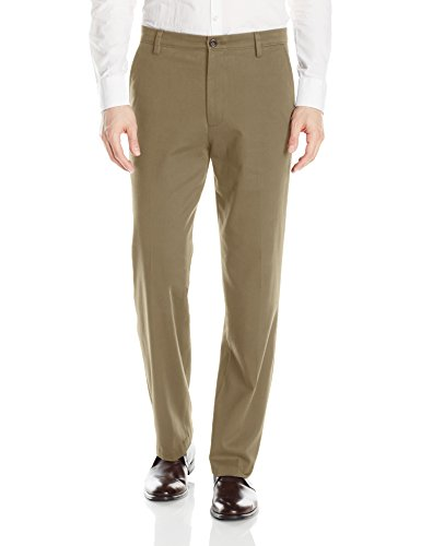 Dockers Easy Khaki D3 Classic-Fit Flat-Front Pant, Timberwolf, 38 34