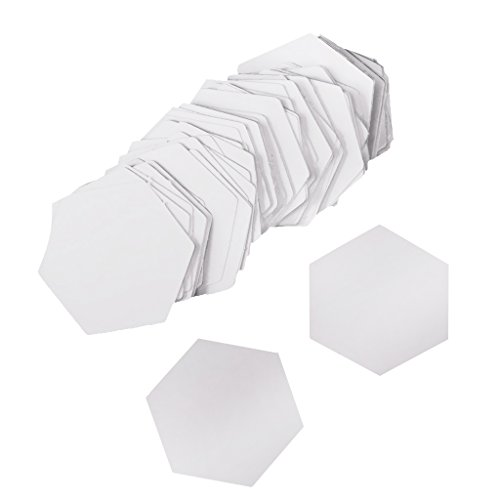 MonkeyJack 100 Pieces Sew Easy Mini Hexagon Quilting/Patchwork Template Sewing Paper Craft - 26mm