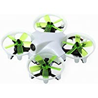 DYS ELF Ready-to-Fly 83mm Micro FPV Drone/Racer - White/Green Props