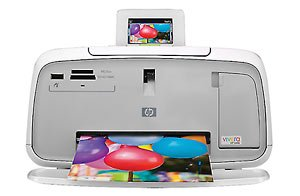 HP Photosmart A532 Photo Printer - Color Inkjet - 27 Second Photo - 4800 x 1200 dpi - USB, PictBridge - PC, Mac by HP