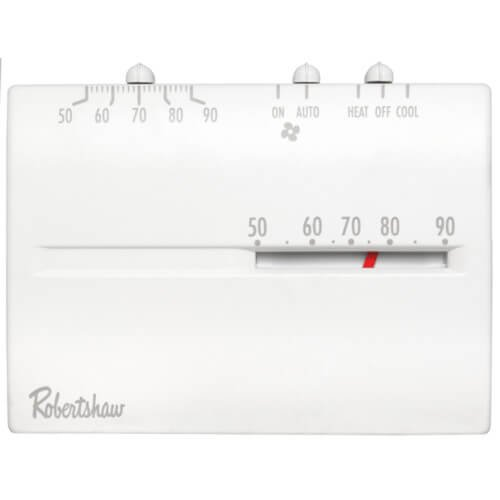 24vac Mercury Free Mechanical Thermostats - Robertshaw 9200H 24-Volt AC 1 Heat / 1 Cool Deluxe Mechanical Thermostat, SPDT (Horizontal)