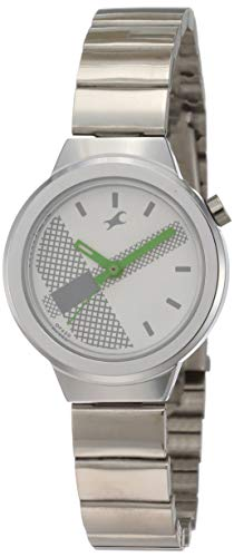 Fastrack Analog White Dial Women #39;s Watch NM6149SM03 / NL6149SM03