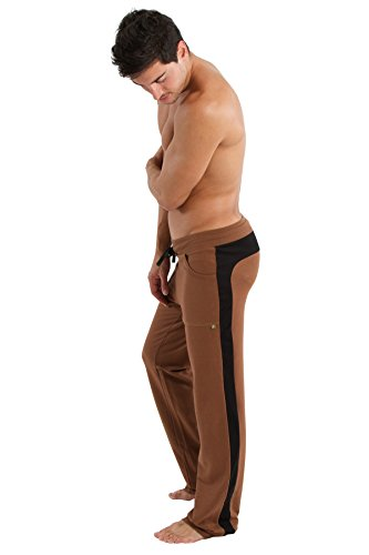 4-rth Eco-Track Pant (M, Chocolate w/Black Piping)