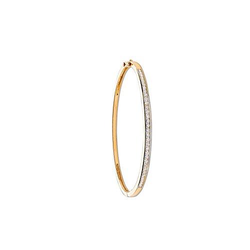 9ct or jaune 1.00CT sertis de diamants Bracelet