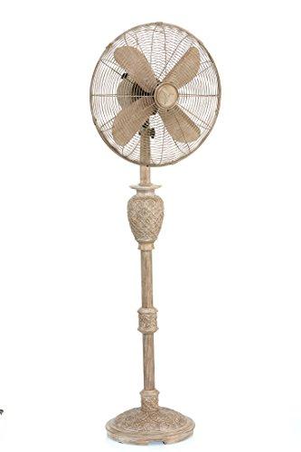 DecoBREEZE Pedestal Fan 3 Speed Oscillating Fan, 16 In, Muriel